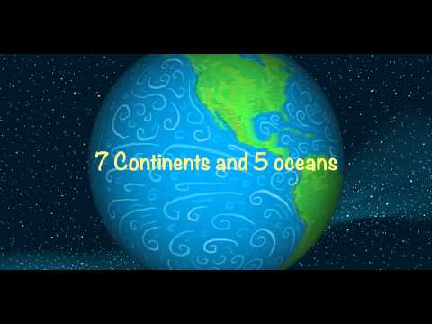 7 Continents with Text