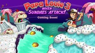 Papa Louie 3: When Sundaes Attack Full Gameplay Walkthrough