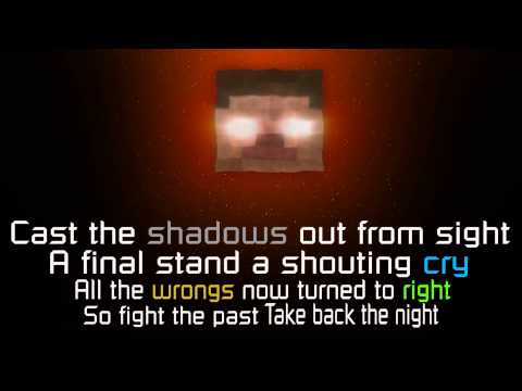 A Minecraft original song - Take back the night - Lyrics - HD (radio edit)