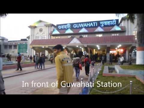 Train trip from Guwahati to Jorhat, Assam, India