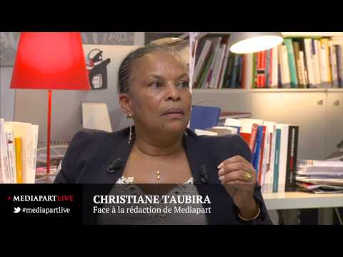 Christiane Taubira face à la rédaction de Mediapart
