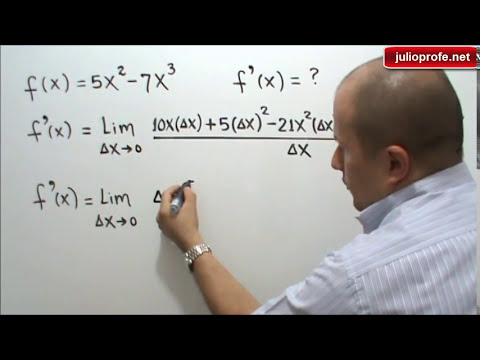 Derivada de una función usando la definición - Derivative of a function using its definition