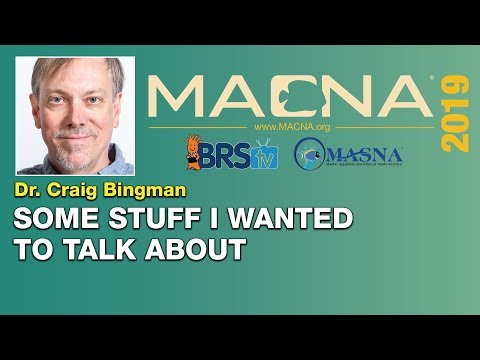 Dr. Craig Bingman: A bit of chemistry, coral calcification and some reefkeeping history | MACNA 2019