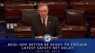 Reid: GOP Better Be Ready To Explain Their Safety Net Delay