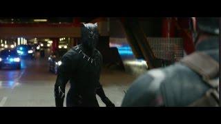 Captain America: Civil War- Black Panther Chase Scene [HD Scene]