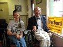 Mike Sharley and Darla Ervin support Barbara Fleischauer
