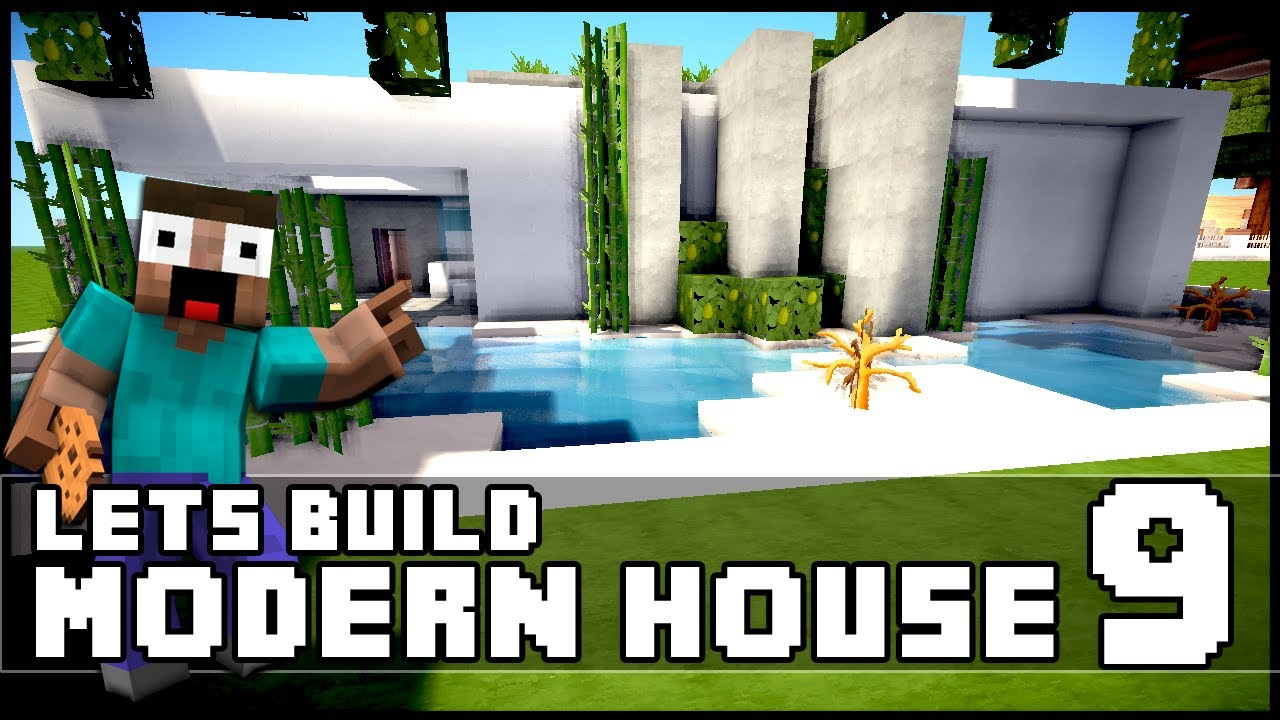 Minecraft Lets Build Modern House 9 Download Youtube
