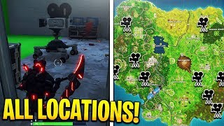 """Dance in front of different Film Cameras"" ALL LOCATIONS! Fortnite Week 2 Challenges!"