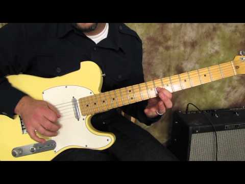 Blues Lick - Blues Guitar Lessons - Fender Telecaster
