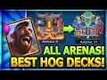 TOP 3 HOG RIDER DECKS ALL ARENAS W/ NO LEGENDARY CARDS!!  Clash Royale Best Hog Decks