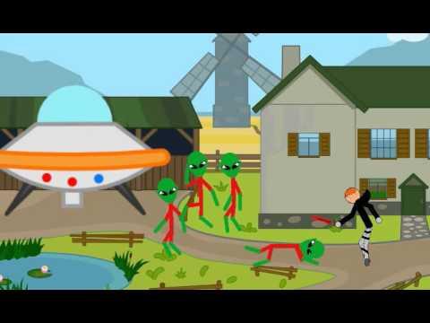Рисуем мультфильмы . Наподение НЛО 6