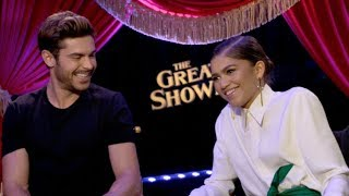 download lagu Zac Efron, Zendaya And Hugh Jackman Interview - The gratis