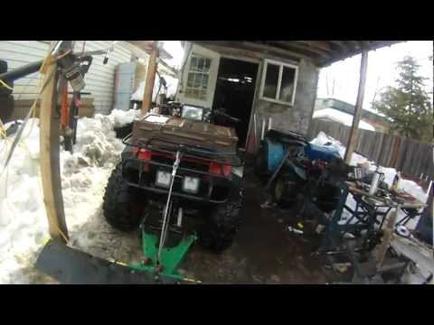 honda 350 home made lift kit.wmv