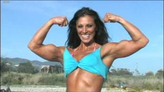 Deidre Paganelli NPC Physique Competitor Bodybuilder posing  for her Advertising with Rob Sims