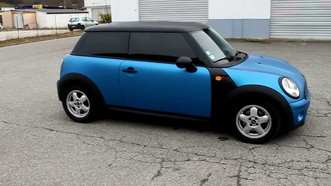 Covering Mini Cooper >> Total covering Mini Cooper Bleu Mat 3M 1080 M227 by Tintlook.MOV - YouTube
