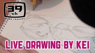 【初音ミク】 Live drawing by KEI 【HATSUNE MIKU】