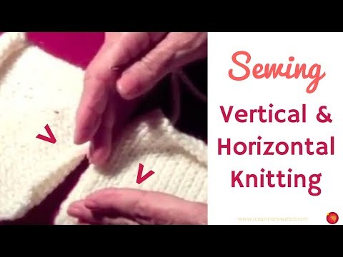 How to Sew knitted pieces together using a whip stitch and