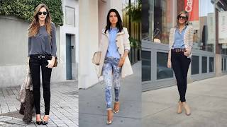 Stylish Women Jeans Outfits Ideas For Work #9