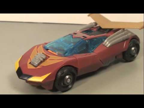 Transformers Animated Rodimus Minor aka Hot Rod Toys R Us Exclusive Review