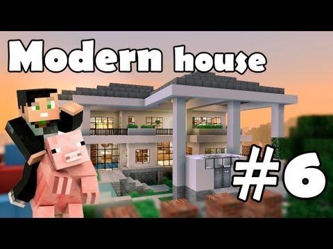 Minecraft строим красивый дом: Modern House (Выпуск 5 ч.6)
