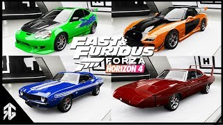 FAST AND FURIOUS 1-8 ALL CARS IN (FORZA HORIZON 4)
