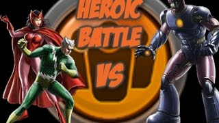 Heroic Battle Quicksilver and Scarlet Witch vs Sentinels Marvel Avengers Alliance