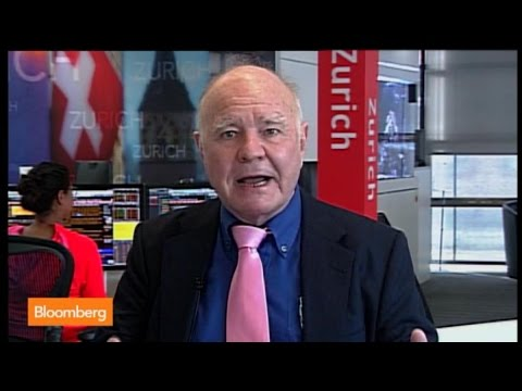 'Dr. Doom', Marc Faber Says U.S. Stocks `Pricey,' Favors Emerging Markets
