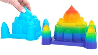 DIY Soft Jelly Gummy Pudding Castle Learn Rainbow Colors Toy Surprise * RainbowLearning