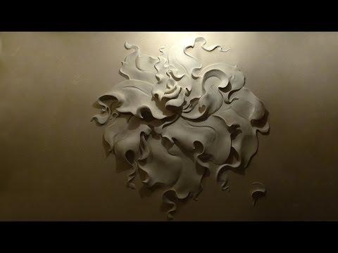 Рельефные рисунки на стенах своими руками 12