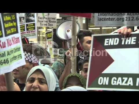 PRO PALESTINIAN DEMONSTRATION IN NYC