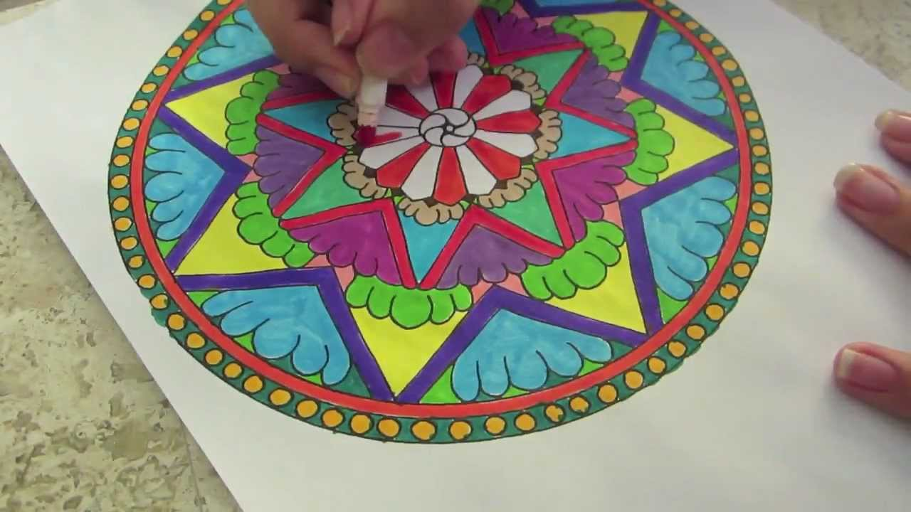 Mandala de colores youtube - Colores para mandalas ...