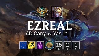 Ezreal AD Carry vs Yasuo - EUW Challenger Patch 8.12