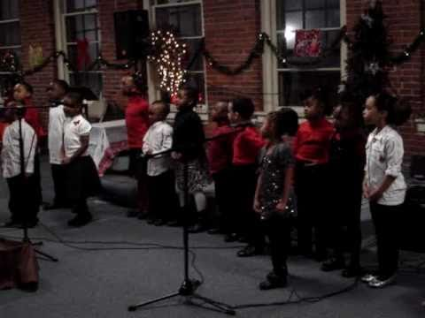 Dawn Treader Christian School Kindergarten class sings Happy Birthday Jesus 2010