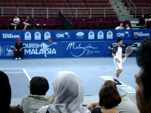 Kei Nishikori & Nicolas Almagro @ Malaysian Open 2011 Quarter Final