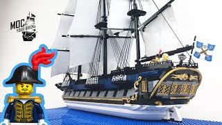 "Lego pirate ship MOC : "" La Grenouille "", The Bluecoat Frigate. Speed Build"