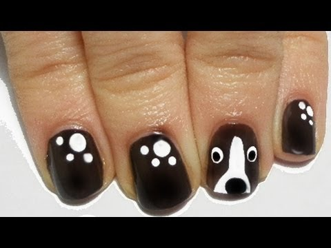Dog Nail Art Tutorial Facile easy