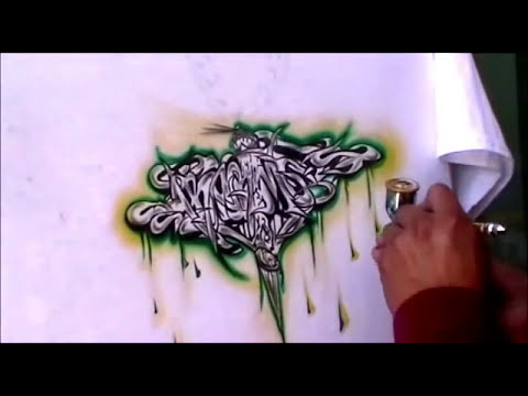 aerografia camiseta graffiti (QUITO-ECUADOR).wmv