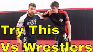 Proven BJJ Competition Strategy against a Strong Wrestler