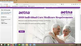 AETNA Coventry 2019 Certification guidance