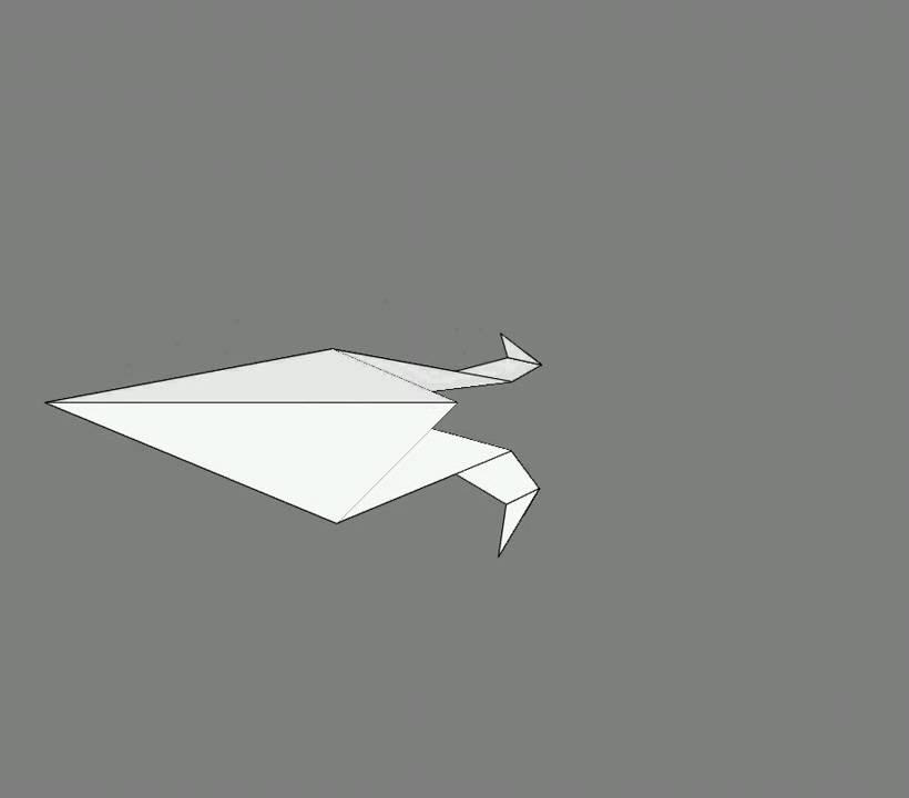 Оригами схема сборки орел 2