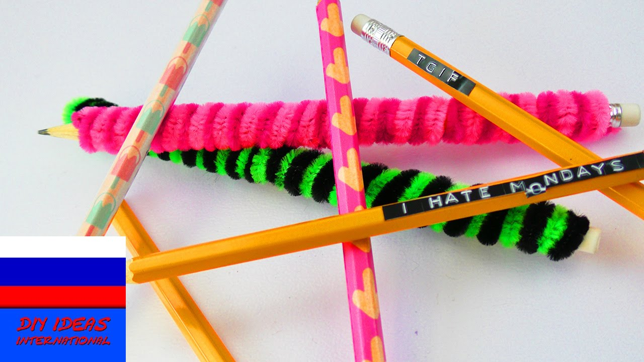 Украшаем ручки и карандаши своими руками 39