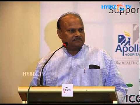 Y.Ramakrishnudu talking at FICCI Andhra Pradesh State Council