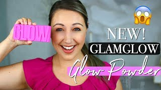 GLAMGLOW GLOWPOWDER Hyaluronic Acid Infused Glow Palette   Swatches & Review