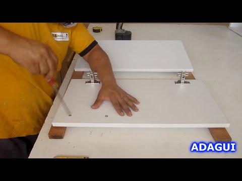 Como hacer Muebles de Melamina / Instalación de Tiradores