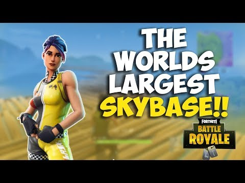 WE BUILT THE WORLDS LARGEST SKYBASE CLUTCHEST GAME OF THE YEAR Fortnite Battle Royale