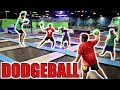 EPIC DODGEBALL GAME IN WORLD'S LARGEST TRAMPOLINE PARK!!