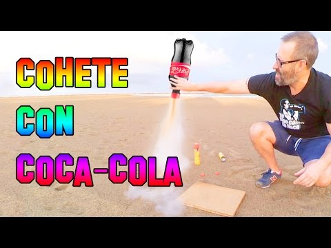 Como Hacer Un Cohete con Coca cola y Gas Butano | How to make a rocket with Coke and Gas Butano
