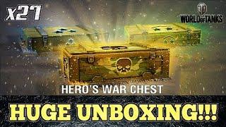 I Spent $100 for THESE!!! || 27 HERO'S WAR CHESTS OPENING || World of Tanks: Mercenaries