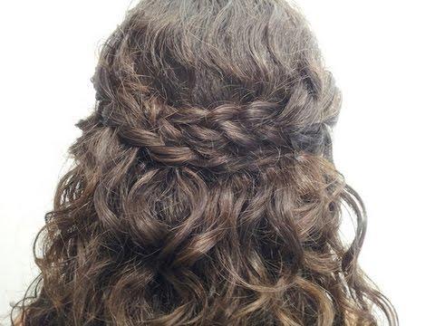 Peinado semi recogido f cil y r pido youtube for Recogidos bonitos y sencillos