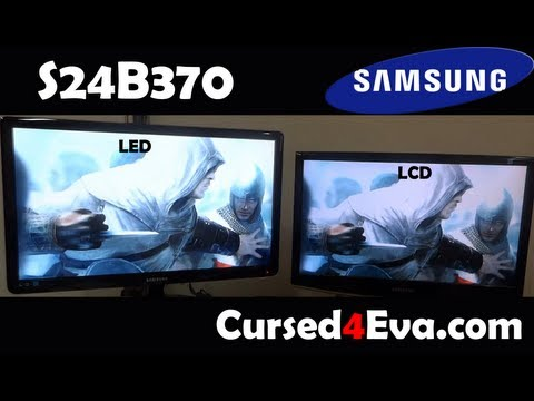 Samsung Series 3 LED Monitor (S24B370) - Hands-On and Unboxing - Cursed4Eva.com